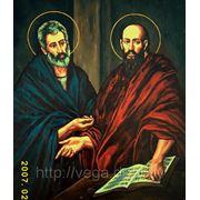 Иконы, изображение святых — маслом на холсте фото