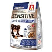 Полнорационный сухой корм для взрослых собак мелких и средних пород Sensitive, Ягненок с рисом/Lamb&Rice, 1.2кг (Зоогурман) фото