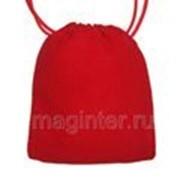 Мешочек подарочный бархатный красный 12х15 см фото