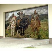 Нанесение любого цветного изображения на ворота от изысканных до фантастических картин известных художников! фото
