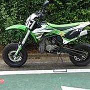 Мотоцикл кроссовый Kawasaki KX100 Эндуро Мотокросс внедорожный Offroad гв 2016 зеленый черный фото