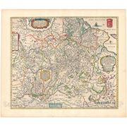 Репродукция, артпринт «Старинная карта Беларуси времен Великого Княжества Литовского (ВКЛ) фото
