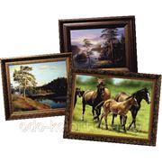 Картины бумага деревянная рамка 50Х70 фото