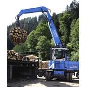 Погрузчики лесные гидравлические. Погрузчики TEREX Fuchs для лесоперевалки. TEREX FUCHS MHL 454 фото