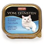 Animonda 100г конс. Vom Feinsten Adult Castrated Cats Влажный корм для взр стер кош Индейка и форель фото