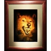 Голограмма художественная Волк фото