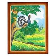 """Картина """"Глухарь"""" багет дерево 36х46 см фото"""
