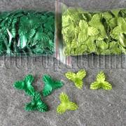 Листочки большие,трехлистные 3,5 см 100гр/~1600-1900шт 4056 фото