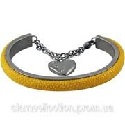 Браслет из шлифованной кожи ската STBRAS999 Yellow фото