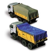 ПВХ полог для укрытия транспортируемых грузов фото