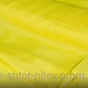 Шифон однотонный - желтый фото