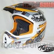 Кроссовый шлем Nitro Karbine Black/Orange фото