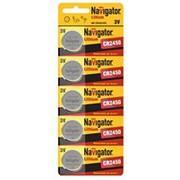 Батарейка Navigator 94766 CR2450 3V 5шт. /20/ фото