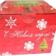 Коробка картонная для новогодних подарков фото