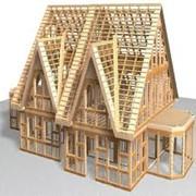 Изготовление и монтаж каркасных деревянных домов фото