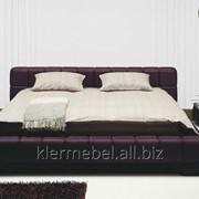 Кровать в обивке из натуральной кожи KLER TRILLO L020 фото