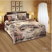 Полутороспальное постельное бельё из поплина фото