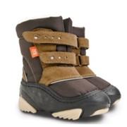 Сноубутсы DEMAR SNOW STORM c (коричневые). Обувь детская зимняя Демар сноу сторм фото