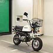 Мопед мокик Honda Monkey Gorilla рама Z50J гв 1975 корзина и задний багажник пробег 5 т.км белый фото