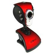 A-4 Global веб камера, 1,3 Mpix, USB 2.0, Красно-чёрный, Зажим, Подсветка: Есть фото