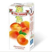 """Сок натуральный абрикосовый торговой марки """"Соки Украины"""" фото"""