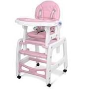 Качалка+столик+стульчик для кормления трансформер 3в1 экокожа BAMBI фото