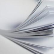 Самоклеющийся пластик двухсторонний Белый, 31х45 см., толщина 1,5 мм фото