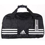 Сумка спортивная Adidas черная 17х25х40х16 0168 /0-58 фото