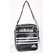 Сумка спортивная Adidas черная 10х30х26 3314black /0-56 фото