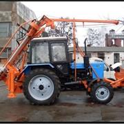 Бурильно крановая машина навес на трактор фото