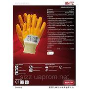 Защитные перчатки, покрытые желтым нитрилом, с мягким манжетом RNITZ фото