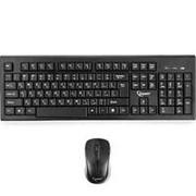 Беспроводная клавиатура и мышь комплект usb Gembird KBS-8002, 2.4ГГц, 104кл, 3кн, 1000dpi фото