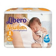 Подгузники LIBERO Newborn 1 (2-5 кг), 30 шт фото