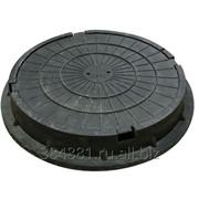 Люк полимерно-песчаный тяжелый тип ТМ(С250) - черный фото