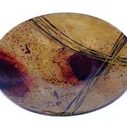 Тарелка Венецианский Карнавал, из муранского стекла изготовленная вручную фото