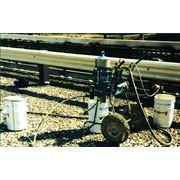 Защита от коррозии металлоконструкций. Нанесение защитного покрытия. фото