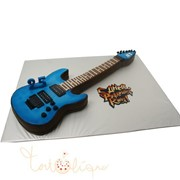 Праздничный торт в виде гитары №858 фото