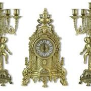Комплект Тоскана - Каминные часы и два канделябра фото