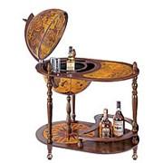 Глобус-бар на 3-х ножках, столик 53х80*95 фото