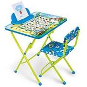 НИКА Набор мебели ВЕСЁЛАЯ АЗБУКА НИКА (стол -парта +мяг стул) h580 (КУ2/ВА) фото