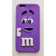 Чехол на Айфон 6/6s M&Ms приятный Силикон Фиолетовый фото