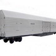 Вагоны грузовые крытые мод. 11-9779 предназначен для перевозки легковых автомобилей, тарно-штучных и пакетированных грузов по всей сети железных дорог России, стран СНГ, Латвии, Литвы и Эстонии. фото