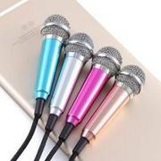Мини микрофон для записи и караоке на смартфоне фото