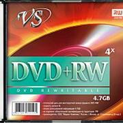 Диск DVD-RW VS 4,7GB, 4x, slim/5шт, записываемый фото