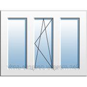 Окно трехчастное с поворотно-откидной створкой Rehau Euro 60, фурнитура Vorne. Однокамерный стеклопакет фото