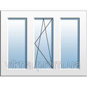 Окно трехчастное с поворотно-откидной створкой WDS купить киев, Однокамерный стеклопакет фото