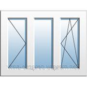 Окно трехчастное с поворотной и поворотно-откидной створками Rehau Euro 60 Vorne. Однокамерный стеклопакет фото