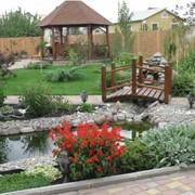 Проектирование ландшафта сада. фото