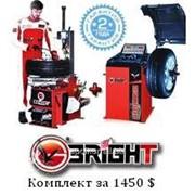 Шиномонтажный и балансировочный станок Bright - комплект за 1450$. фото