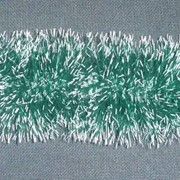 Мишура тёмно-зелёное основание с белыми кончиками, 1,8 м фото